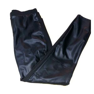 Faux leather pull on pants